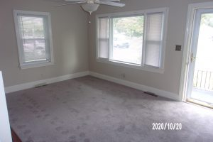 living room w/ new carpeting October 2020
