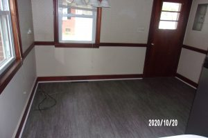 eat in kitchen area with new flooring October 2020