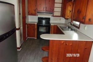 kitchen with new flooring October 2020
